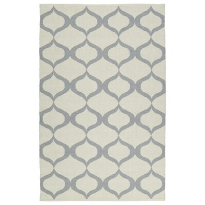 Dominic Hand-Tufted Cream/Gray Indoor/Outdoor Area Rug Rug Size: Runner 2 x 6