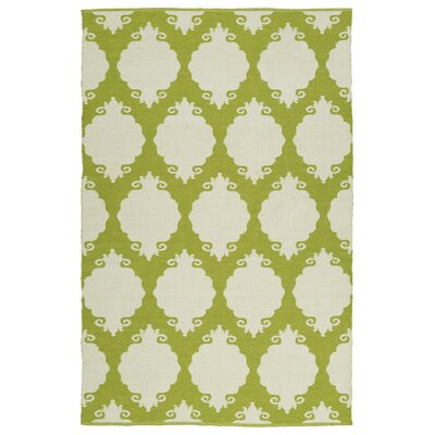 Dominic Wasabi/Cream Indoor/Outdoor Area Rug Rug Size: 3 x 5