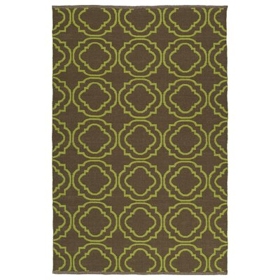 Aarti Brown/Avocado Indoor/Outdoor Area Rug Rug Size: 3 x 5