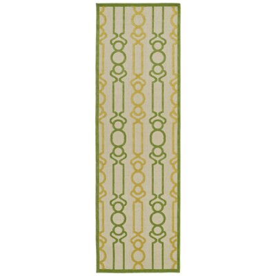 Domingues Gold Indoor/Outdoor Area Rug Rug Size: Runner 26 x 71