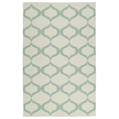 Dominic Cream/Mint Indoor/Outdoor Area Rug Rug Size: Runner 2 x 6