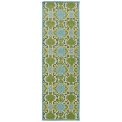 Domingues Machine Woven Blue Indoor/Outdoor Area Rug Rug Size: Runner 26 x 710