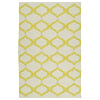 Dominic Cream/Yellow Indoor/Outdoor Area Rug Rug Size: 2 x 3