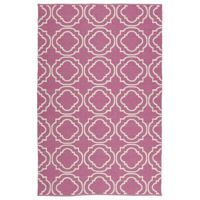 Dominic Tufted Pink/Cream Indoor/Outdoor Area Rug Rug Size: 8 x 10