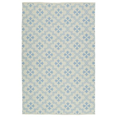 Dominic Cream/Light Blue Indoor/Outdoor Area Rug Rug Size: Runner 2 x 6