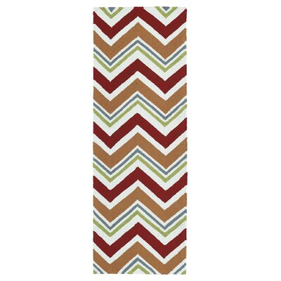 Alpine Bay Red Indoor/Outdoor Area Rug Rug Size: Runner 2 x 6