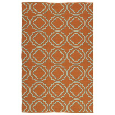 Aarti Orange/Teal Indoor/Outdoor Area Rug Rug Size: 5 x 76