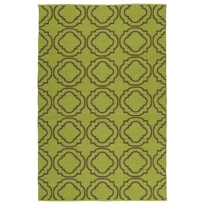 Aarti Avocado/Brown Indoor/Outdoor Area Rug Rug Size: 5 x 76