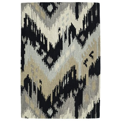 Dodge Black Area Rug Rug Size: Rectangle 76 x 9