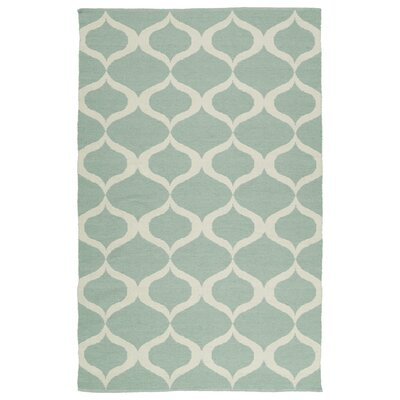 Dominic Mint/Cream Indoor/Outdoor Area Rug Rug Size: Rectangle 8 x 10
