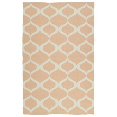 Dominic Pink/Cream Indoor/Outdoor Area Rug Rug Size: Rectangle 5 x 76