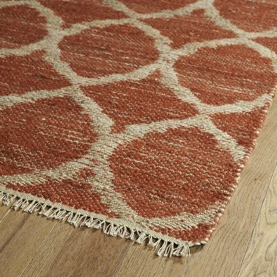 Dolder Grey & Rust Area Rug Rug Size: Runner 26 x 8