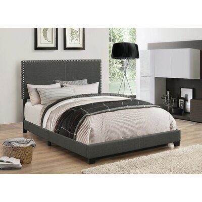 Amsbury Upholstered Platform Bed Size: Full, Upholstery: Charcoal