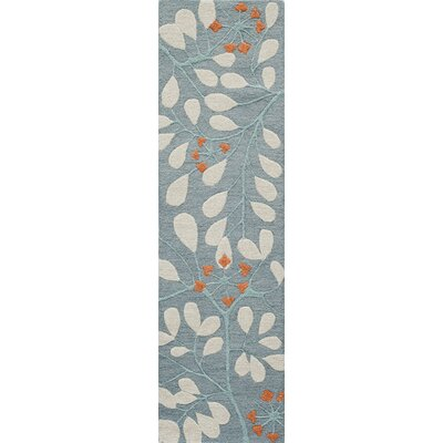 Dominick Hand-Tufted Blue Area Rug Rug Size: Runner 23 x 8