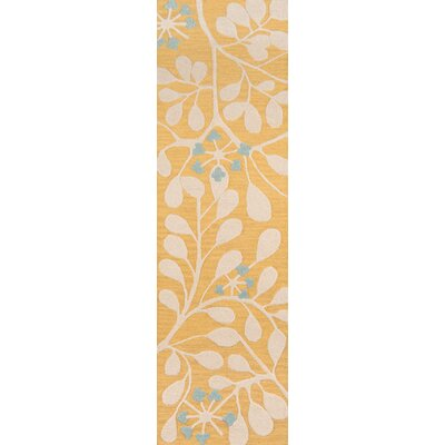 Amesdale Hand-Tufted Gold Area Rug Rug Size: Runner 2'3
