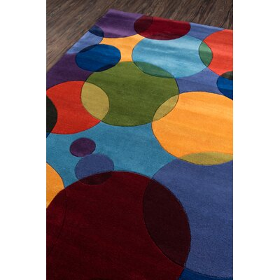 User Hand-Tufted Blue Area Rug Rug Size: Rectangle 76 x 96