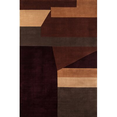 User Hand-Tufted Wine Area Rug Rug Size: Rectangle 53 x 8