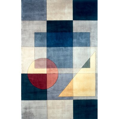 User Hand-Tufted Wool Blue Area Rug Rug Size: Round 59