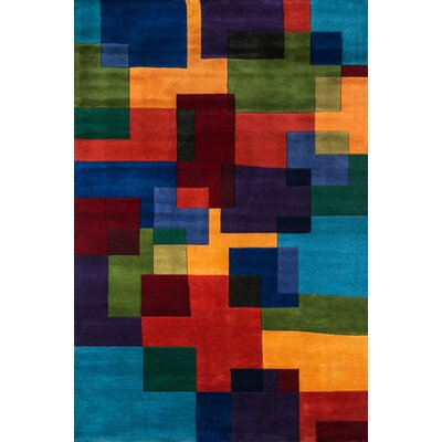 Amherst Hand-Tufted Red/Orange Area Rug Rug Size: 3'6