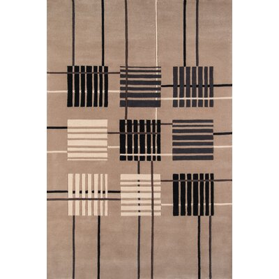 User Hand-Tufted Sand Area Rug Rug Size: Rectangle 8 x 11