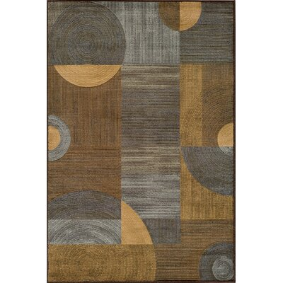 Amsbury Brown/Gray Area Rug Rug Size: 53 x 76