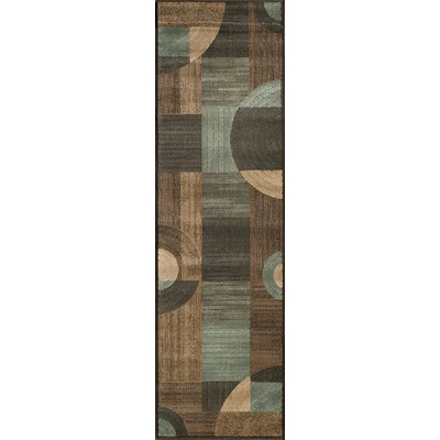 Dominique Brown/Gray Area Rug Rug Size: Runner 23 x 76