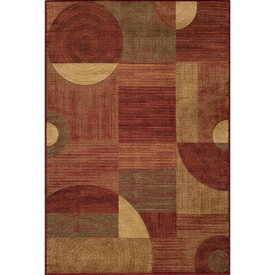 Dominique Red Area Rug Rug Size: 93 x 126