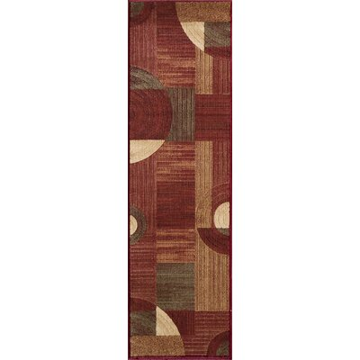 Dominique Red Area Rug Rug Size: Runner 23 x 76
