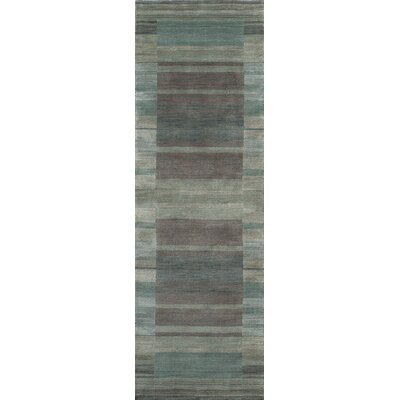 Donaghy Hand-Woven Blue/Gray Area Rug Rug Size: Rectangle 36 x 56