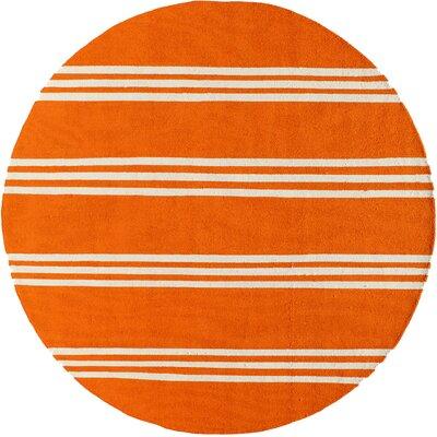 Amsterdam Tangerine Indoor/Outdoor Area Rug Rug Size: Round 9