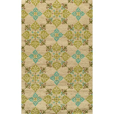 Amsterdam Beige/Green Indoor/Outdoor Area Rug Rug Size: 5 x 8