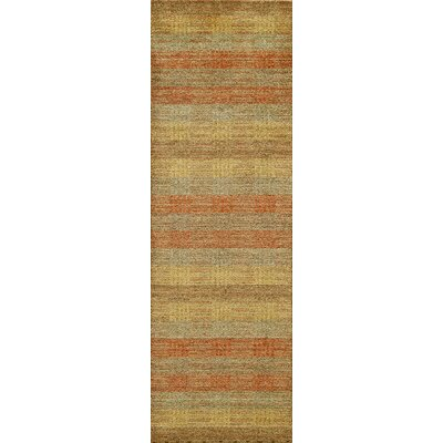 Donaghy Hand-Woven Green Wool Area Rug Rug Size: Runner 26 x 8