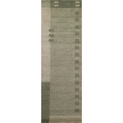 Donaghy Hand-Woven Green Area Rug Rug Size: Rectangle 36 x 56