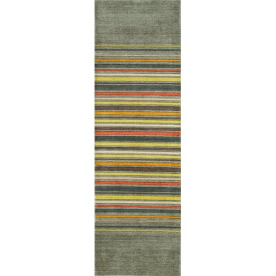 Donaghy Hand-Woven Gray Area Rug Rug Size: Rectangle 8 x 11