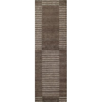 Donaghy Hand-Loomed Carbon Area Rug Rug Size: Rectangle 76 x 96