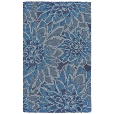 Julie Hand Tufted Gulf Indoor/Outdoor Area Rug Rug Size: 36 x 56