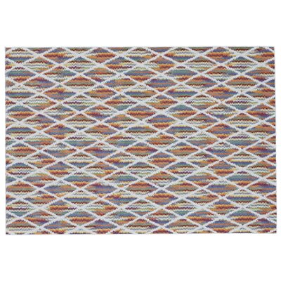 Watts Blue/Red Area Rug Rug Size: Rectangle 22 x 4