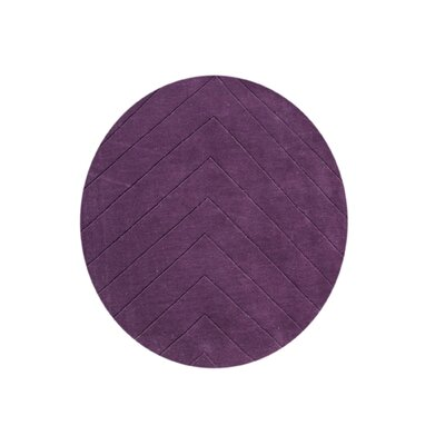 Agawam Hand-Tufted Purple Area Rug Rug Size: Round 6