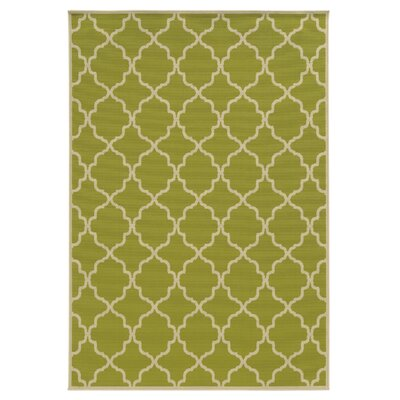 Viviana Green/Ivory Indoor/Outdoor Area Rug Rug Size: 53 x 76