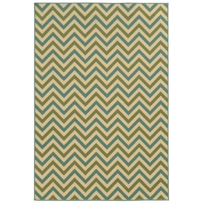 Viviana Green/Blue Indoor/Outdoor Area Rug Rug Size: Round 710