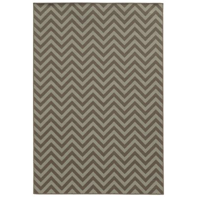 Viviana Grey/Blue Indoor/Outdoor Area Rug Rug Size: 53 x 76