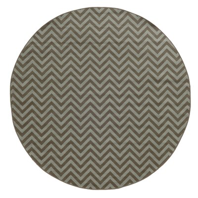 Viviana Grey/Blue Indoor/Outdoor Area Rug Rug Size: Round 710