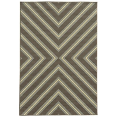 Heath Grey/Blue Indoor/Outdoor Area Rug Rug Size: 53 x 76