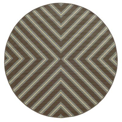 Heath Grey/Blue Indoor/Outdoor Area Rug Rug Size: Round 710