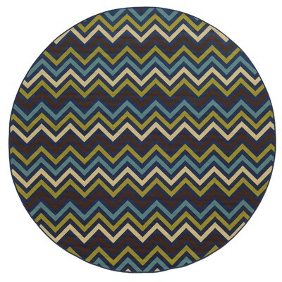 Heath Blue/Green Indoor/Outdoor Area Rug Rug Size: Round 710