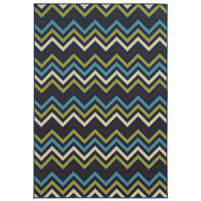 Heath Blue/Green Indoor/Outdoor Area Rug Rug Size: 53 x 76
