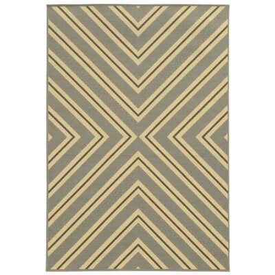 Viviana Grey/Ivory Indoor/Outdoor Area Rug Rug Size: 86 x 13