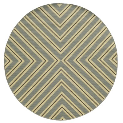 Heath Grey/Ivory Indoor/Outdoor Area Rug Rug Size: Round 710