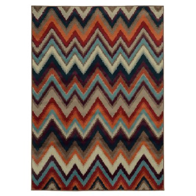 Nielsen Black/Stone Area Rug Rug Size: Rectangle 111 x 33