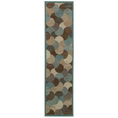 Nielsen Beige/Blue Area Rug Rug Size: Rectangle 111 x 33